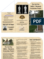 RI Co Civil War Soldier Monument Informational Color Brochure