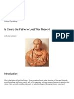 Is Cicero the Father of Just War Theory?