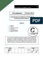 P-141-AU-1 (Comunicación Técnica de Evaluación de Proyectos Menores)