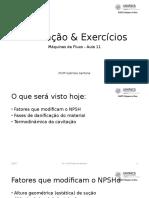 Aula 11 - Cavitação & Exercícios