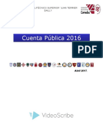 Cuenta Pública JTD 2016 ABRIL