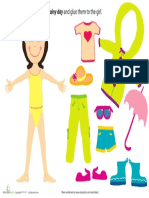 Rainy Day Paper Doll Girl