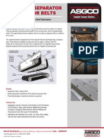 Magnetic Separator Conveyor Belts Techincal Data Sheet 2015