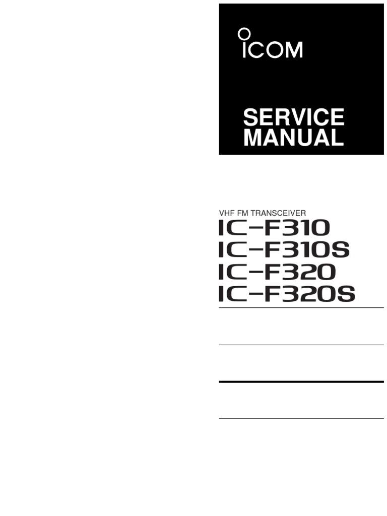 ICOM F 310 - 310 S - 320 - 320 S | Detector (Radio) | Amplifier