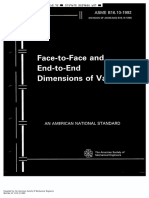 ASME B16.10 Face to Face and End to End Dimension of Valves