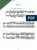 Brahms - Op  2 - Sonata 2