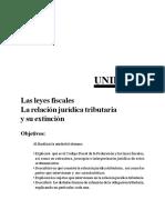 DchoFiscal_Unidad2 Las Leyes Fiscales, La Regularizacion Juridica Tributaria