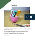 Contoh Kerajinan Tangan Dari Gelas Plastik