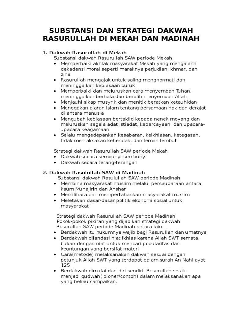 Rangkuman Strategi Dakwah Dan Perkembangan Islam Di Indonesia