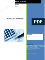 Tarea Virtual 3 Matematica Financiera