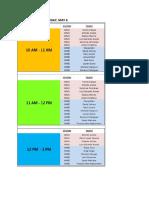 2017 Expo Talent Schedule