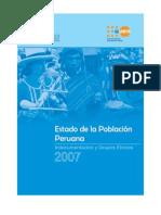 ESTADO de LA Poblacion Peruana 2007