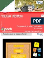 Clase 2 LC 21 Comprendo La Relación de Ideas en El Texto. Manejo de Conectores 2017 INT ÚLTIMO
