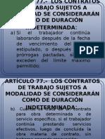ARTÍCULO 77 78 Laboral