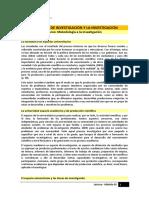 Lectura - Las Líneas de Investigación y La Investigación