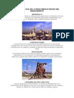 Ingeniería Civil en La Edad Media e Inicios Del Renacimiento 1