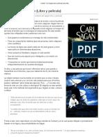 Contact – Carl Sagan (Libro y Película)