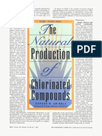 The Natural Production of Chlorinated Compounds