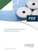 GRC Platform Considerations Whitepaper Protiviti