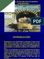 Control de Estabilidad en Mineria Subterranea