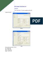 Aplikasi Perhitungan IPK Dengan Visual Basic 6
