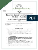 Ap1 - Exames No Abdome Agudo