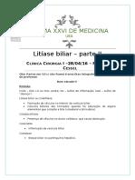 AP2 - Litíase Biliar 2