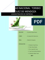 Informe Modelo de Transporte