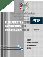Planeacion Agregada Con Programacion Lineal