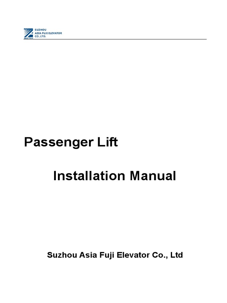 Installation Manualpdf Track Rail Transport Elevator Wiring Schematic For Elevators