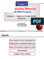 EBS-OB Organisational Behaviour - Dr Karim Hamza