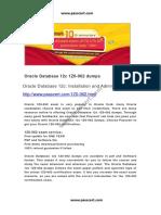 Oracle Database 12c 1Z0-062 Dumps