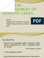 Surgical Management of Sodomy Cases