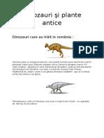 Dinozauri Si Plante Antice Copie