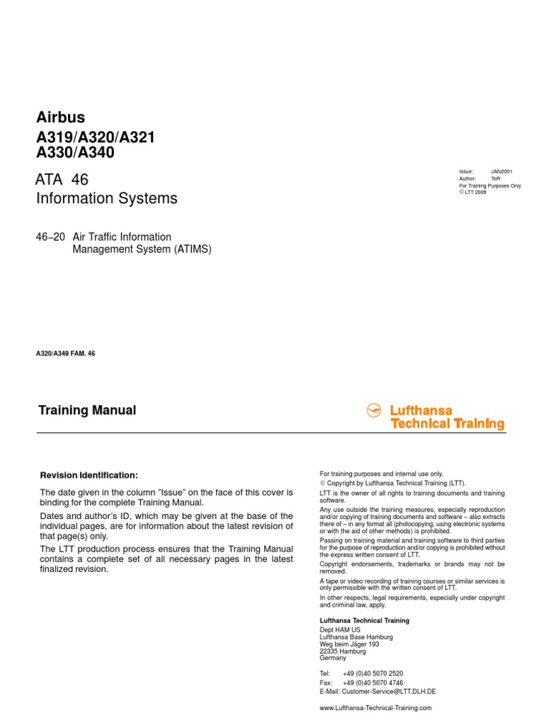 a330 b2 Ata46 Infomation Systems Basic.unlocked | Air Traffic Control |  Global Positioning System