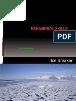 Behavioral Skills
