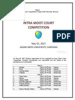 Intra Moot Court Competition held on May 05, 2017 (Friday) at Jagan Nath University, Bahadurgarh, Haryana