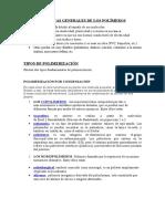 Caracteristicas Generales de Los Polímeros