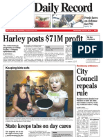 Front page - York Daily Record/Sunday News, June 21, 2010