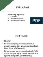 Khilafa h