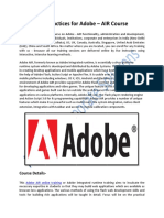 Best Practices Training for Adobe AIR Course