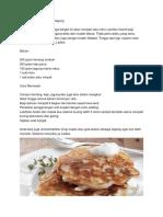 Resep Kue Kentang Keju Jagung