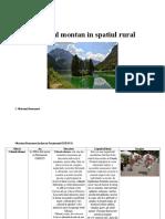 Turismul Montan in Spatiul Rural