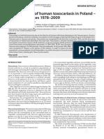 epidemiologie -toxocaroza