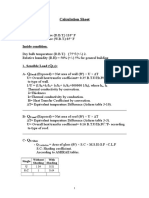 Calculation Sheet