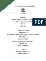 Cultura Fisica Rutinas Arturo Ernesto Medina