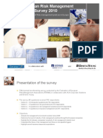Ferma European Risk Management Benchmarking Survey 2010
