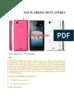 Cara Mudah Flashing Sony Xperia j St26i