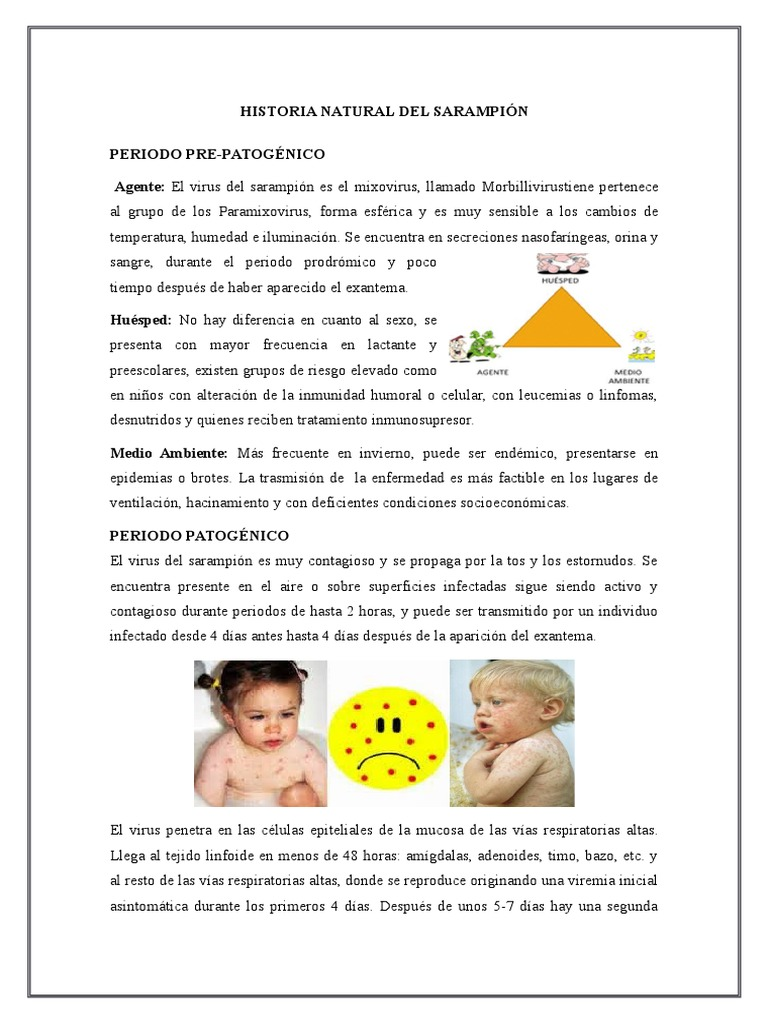 Historia Natural Del Sarampion