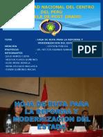 HOJA DE RUTA PARA LA REFORMA Y MODERNIZACION.ppt